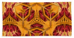 Bath Towel featuring the mixed media Shatter #4 by Writermore Arts