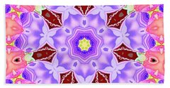 Bath Towel featuring the mixed media Shatter #5 by Writermore Arts