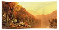 Shawanagunk Mountains Hand Towel by Jervis McEntee