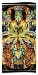 Hand Towel featuring the digital art She Is A Mosaic by Paula Ayers