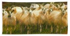 Sheep At Hadrian's Wall Bath Towel