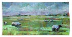 Sheep Of His Field Bath Towel