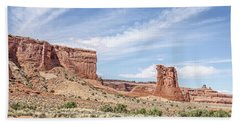 Sheep Rock In Arches National Park Hand Towel
