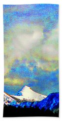 Sheep's Head Peak After April Snow Hand Towel