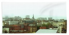 Hand Towel featuring the photograph Sheffield Skyline by Anne Kotan