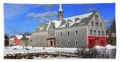 Shelburne, Nova Scotia In Winter Hand Towel