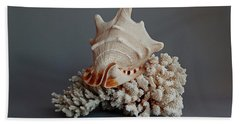 Shell And Coral Hand Towel