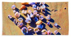 Hand Towel featuring the photograph Shell Collection by Roberta Byram