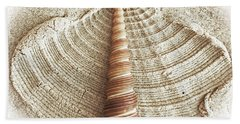 Shell In The Sand Bath Towel