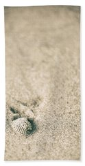 Hand Towel featuring the photograph Shell On Beach Alabama  by John McGraw