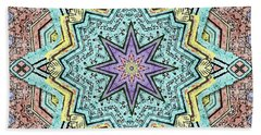 Shell Star Mandala Bath Towel by Deborah Smith