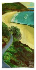 Bath Towel featuring the painting Shelly Beach by Paul McKey
