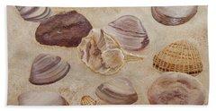 Shells And Stones Bath Towel
