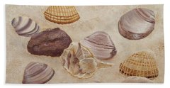 Shells And Stones Bath Towel