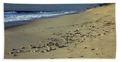 Shells And Waves Bath Towel by Mary Haber