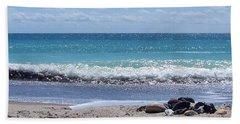 Bath Towel featuring the photograph Shells On The Beach by Sandi OReilly