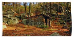 Shelter In Harriman For At Hikers Bath Towel