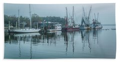 Shem Creek Fog Bath Towel