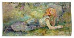 Shepherdess Resting Hand Towel