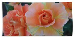 Sherbert Rose Hand Towel by Marna Edwards Flavell