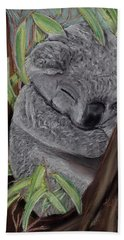 Shhhhh Koala Bear Sleeping Hand Towel by Kelly Mills