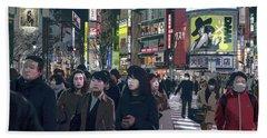 Shibuya Crossing, Tokyo Japan Poster 2 Bath Towel