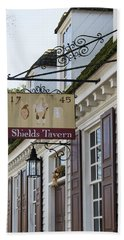 Shields Tavern Sign Bath Towel