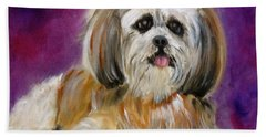 Shih-tzu Puppy Hand Towel by Jenny Lee
