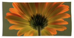 Shine Bright Gerber Daisy Square Bath Towel by Terry DeLuco