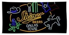 Shiner Beers Dallas Texas Bath Towel