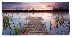Shinewater Lake Sunrise Bath Towel