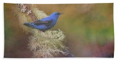 Shining Honeycreeper Hand Towel by Janette Boyd
