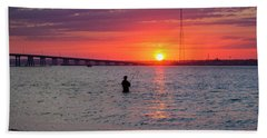 Shinnecock Fisherman At Sunset Hand Towel