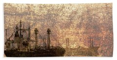 Ship At Anchor Bath Towel