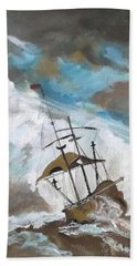 Ship In Need Hand Towel by Carole Robins