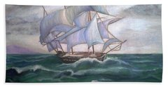 Ship Out To Sea Bath Towel by Manuel Sanchez
