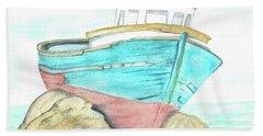 Ship Wreck Bath Towel
