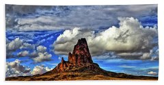 Bath Towel featuring the photograph Shiprock Panorama by Scott Mahon