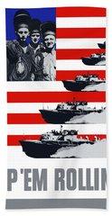 Ships -- Keep 'em Rolling Hand Towel