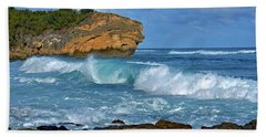 Shipwreck Beach Shorebreaks 2 Bath Towel by Marie Hicks