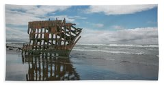 Hand Towel featuring the photograph Shipwreck by Elvira Butler