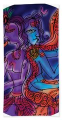Shiva And Krishna Bath Towel