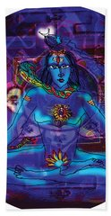 Shiva In Meditation Bath Towel