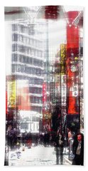 Shopping Downtown Hand Towel