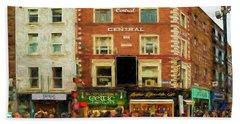 shopping on Grafton Street in Dublin Hand Towel