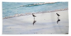 Shore Birds Bath Towel by Mike Robles