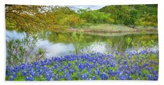 Shoreline Bluebonnets At Lake Travis Bath Towel