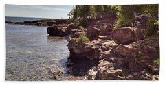 Shoreline In The Upper Michigan Hand Towel