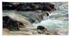 Hand Towel featuring the photograph Shoreline by Lori Seaman