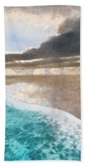 Shoreline Painted Hand Towel by Cynthia Decker